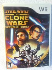 Nintendo Wii Game Star Wars The Clone Wars Republic Heroes 2007