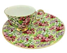 Vintage Shafford China Chintz Snack Set - Cup & Plate - #9306