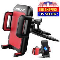 Mpow Car CD Player Slot Mount Auto Vehicle Mobile Phone GPS Holder Universal US
