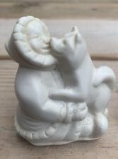 Vintage Pearlite Eskimos With Husky Figurine - Kissing - Made In Canada - Estate