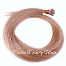 25 Pearl Blonde Pre Bond I Stick Tip Micro Rings Bead Remy Human Hair Extensions