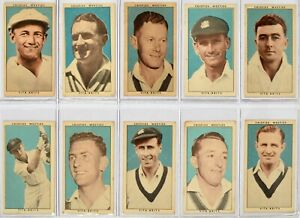 1948 Nabisco Crispies Weeties Leading Cricketers Complete set 32x Cricket Cards