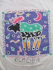 Vintage '80's Texas Chili Pepper/ Glacier Moose 2 Sided T Shirt Size M (Nwot)