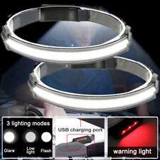 2x Cobled Head Torch Work Light Night Running Headlamp Headlight Bar Band Lamp