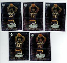(5) 2000 UD CENTURY LEGENDS MAGIC JOHNSON P3 PLAYER OF THE CENTURY LOT