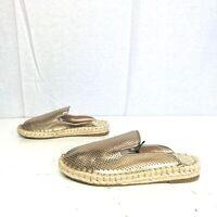 NEW dv Dolce Vita size 6 Elaine Espadrilles Mules Rose Gold Slip On Shoes slides