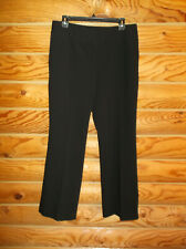 WOMENS AXCESS LIZ CLAIBORNE CO. STRETCH DRESS PANTS BLACK SIZE 10