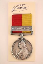 BRITISH INDIAN ARMY MILITARY EAST & CENTRAL AFRICA MEDAL & UGANDA BAR VICTORIA