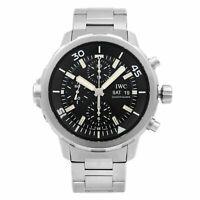 IWC Aquatimer Chronograph Steel Black Dial Automatic Mens Watch IW376804