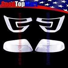 For Ford EXPLORER 2016 Chrome Covers Set 2 Front Fog Lights + 2 Cap Top Mirrors