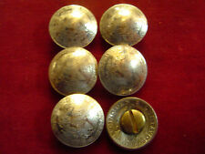 Conchos: 6  Mexican 50 Centavo nickle silver Real Coins w/ Post & Screw