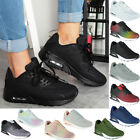 Womens Lace Up Trainers Ladies Running Flat Comfy Fitness Gym Sports Shoes Size