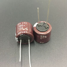 2pcs 100V 150uF 100V NCC Nippon LXV 18x15mm Low impedance Capacitor