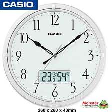 CASIO WALL CLOCK IC-02-7DF WITH THERMOMETRE & HUMIDITY WARANTY