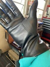 Womans Leather Vtg Gloves Artisanal Product From Italy Rabbit Hair With Tag7-1/2
