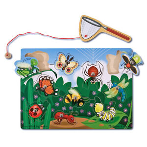EDUCATIONAL MELISSA AND DOUG MAGNETIC WOODEN BUG CATCHING GAME NEW IN PACKAGE
