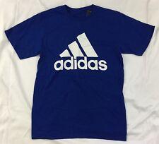 Adidas Men's Shirt The Go To Tee Cotton Shirt Blue White BU3648 Size L