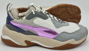 Puma Thunder Electric Leather Trainers White/Purple/Grey 36799801 UK6/US7/EU39