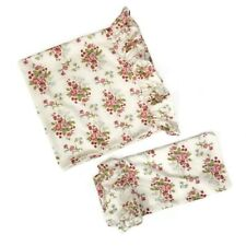 Set of 2 Ralph Lauren Emily Anne Rose Floral Ruffle Pillow Cases King Cottage