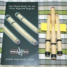 MG Cane Drone Reeds for pipes highland bagpipe 2 tenors 1 bass