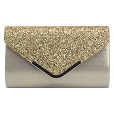 Quality Giltter Bride Ladies Party Evening Clutch Handbag Purse Shoulder Hot Bag