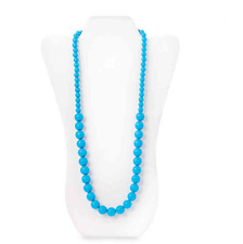 New listing Blue Teething Necklace Functional Mom Jewelry Baby Toddler Gift New Us Seller