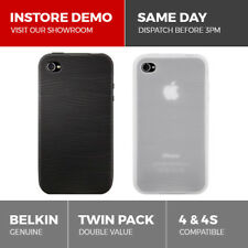 Belkin Quality 2-Pack Silicone Sleeve Case for iPhone 4 & 4S Cover Skin Grip Duo