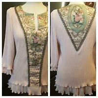 17f4e327edb Michal Negrin Victorian style Roses Crystals Corset Bustier Tank Top ...