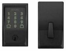 Schlage Encode Smart WiFi Deadbolt with Century Trim in Matte Black - BE489WBCE…