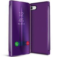 Handy Klapp Tasche für Apple iPhone 6+ 6S Plus Hülle View Flip Case Schutz Cover
