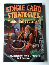 SINGLE CARD STRATEGIES MAGIC THE GATHERING Book Illustrated Free Shipping!