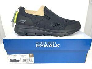 Skechers Men's Go Walk Shoes Ultra Go Cushioning Air Cooled Black Choose Size