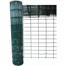 Green PVC Coated Steel Mesh Fencing Wire Garden Galvanised Fence Border NEW
