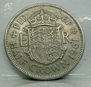 Km# 907 - 1/2 crown 1961 - TB+ - monnaie Grande Bretagne / Royaume-Uni - N11524