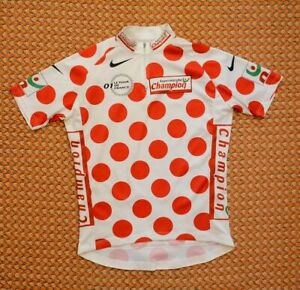 Toure de France 2001, Cycling Jacket, Polka dots by Nike Adult 1, M- 178
