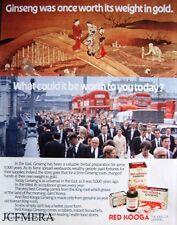'RED KOOGA' Ginseng Advert - Original 1981 Print AD