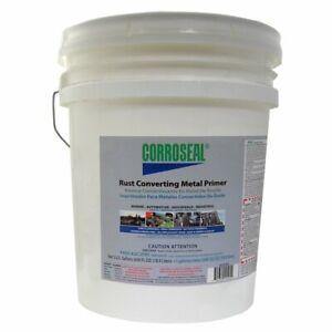 Corroseal Water-Based Rust Converter Metal Primer, Rust Converter - 5 Gal