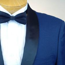 46R STEVE HARVEY BLUE TUXEDO with Vest 46 Regular Mens Tuxedo - M05v