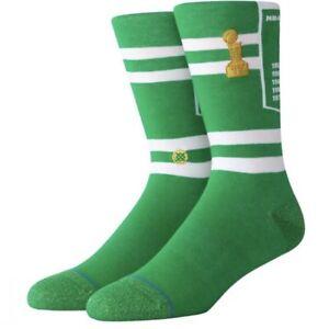 Stance NBA Boston Celtics Basketball Banner Crew Socks Large Mens Size 9-12 NWT