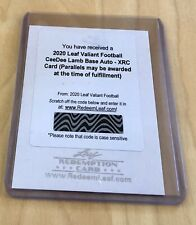 CEEDEE LAMB 2020 Leaf Valiant XRC Autograph Auto Rookie Cowboys 🔥#1/1 Possible
