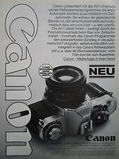 7/1979 PUB CANON AV-1 APPAREIL PHOTO CAMERA KAMERA ORIGINAL GERMAN AD