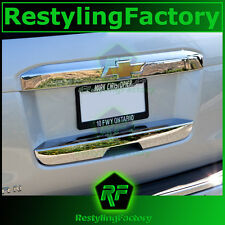 15-16 Chevy Tahoe Triple Chrome Upper+Lower Liftgate Tailgate Handle Cover 2016