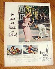 1949 Jergens Lotion Ad Heart did a Rhumba in Havana