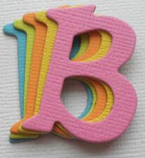 *BRiTE COLORS* Chipboard Alphabet Letters Embellishment Die Cut