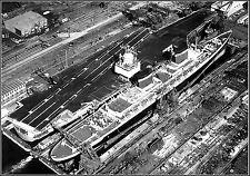 "Poster Print: 24"" x 36: The SS United States & The USS Enterprise, Va 1964"