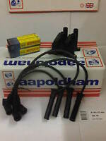 FORD FIESTA 1.2 1.4 16v 98-00 IGNITION COIL PACK HT PLUG LEADS SET & SPARK PLUGS
