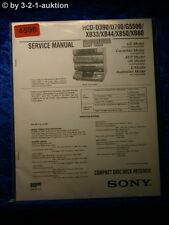 Sony Service Manual HCD D390 /D790 /G5500 /XB33 /XXB44 /XB50 /XB60 (#4596)
