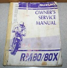 Used OEM Owners Service Manual for Suzuki RM 80/80X 2000 Shop Repair