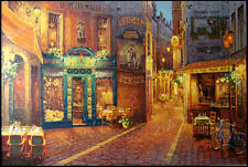 "Viktor Shvaiko""Au Petit Marquis""giclee on canvas unframed H.Signed Make an Offer"