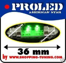 2x ampoule 4 led 36mm,plafonnier,éclaire plaque Vert